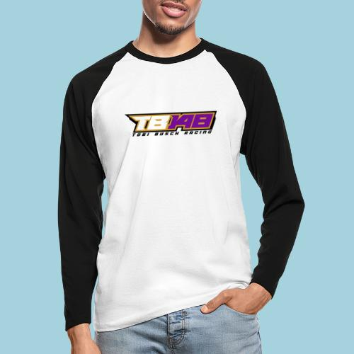 Tobi Logo schwarz - Männer Baseballshirt langarm