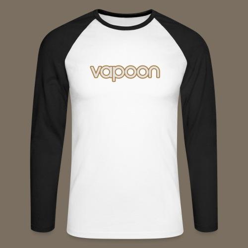 Vapoon Logo simpel 2 Farb - Männer Baseballshirt langarm