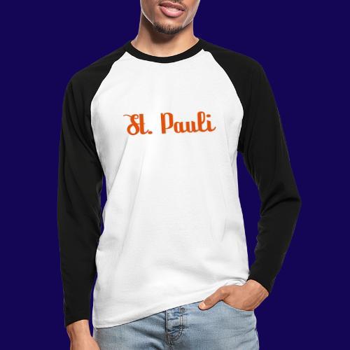 St. Pauli Logotype: Dein Kieztour Begleiter - Männer Baseballshirt langarm