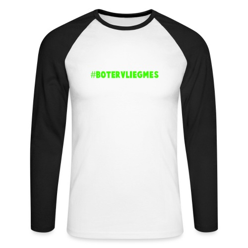 #Botervliegmes T-shirt (vrouwen) - Mannen baseballshirt lange mouw