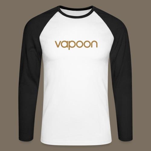 Vapoon Logo simpel 01 - Männer Baseballshirt langarm