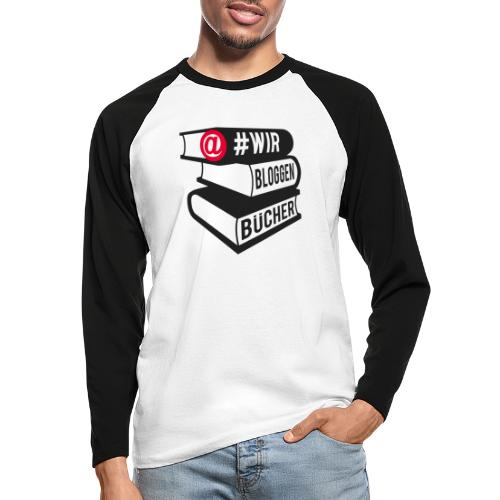 #wirbloggenbücher Logo - Männer Baseballshirt langarm