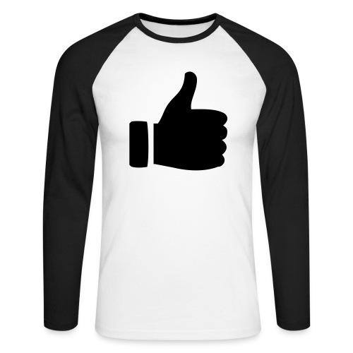I like - gefällt mir! - Männer Baseballshirt langarm
