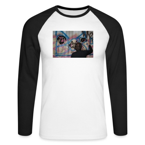 fox1 - T-shirt baseball manches longues Homme