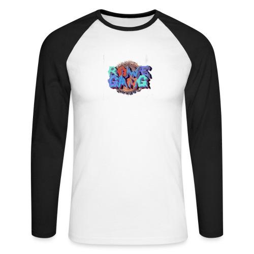 RoweGang Basic Logo - Miesten pitkähihainen baseballpaita