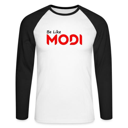 Be Like MoDi - Koszulka męska bejsbolowa z długim rękawem