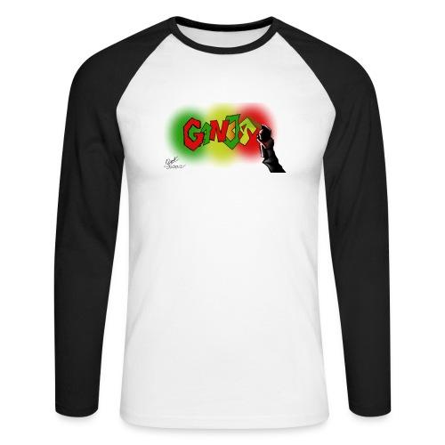 Ganja - Langærmet herre-baseballshirt