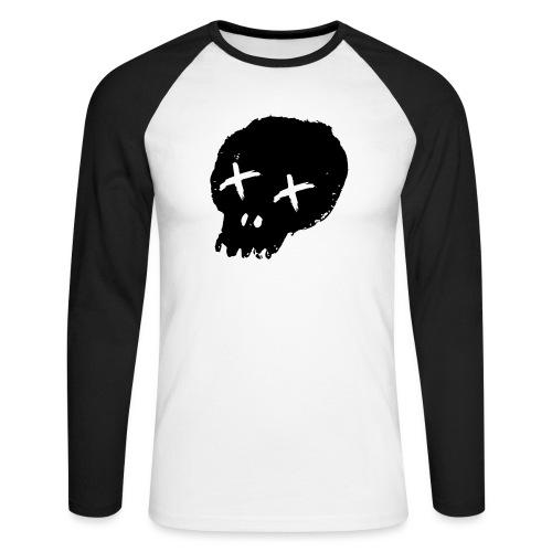 blackskulllogo png - Men's Long Sleeve Baseball T-Shirt