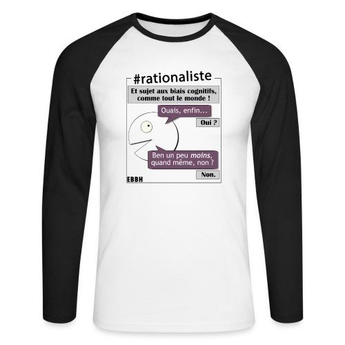 Rationalisme et biais cognitifs - T-shirt baseball manches longues Homme