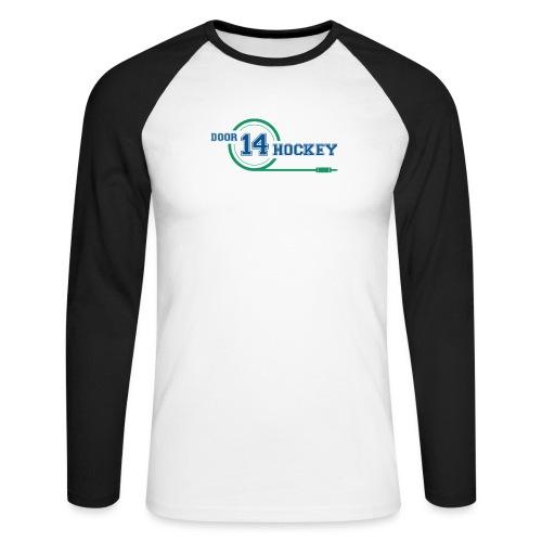 D14 HOCKEY LOGO - Men's Long Sleeve Baseball T-Shirt