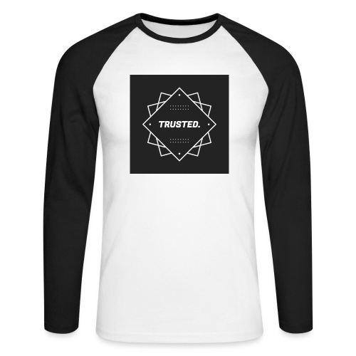 Trusted Logo - Männer Baseballshirt langarm