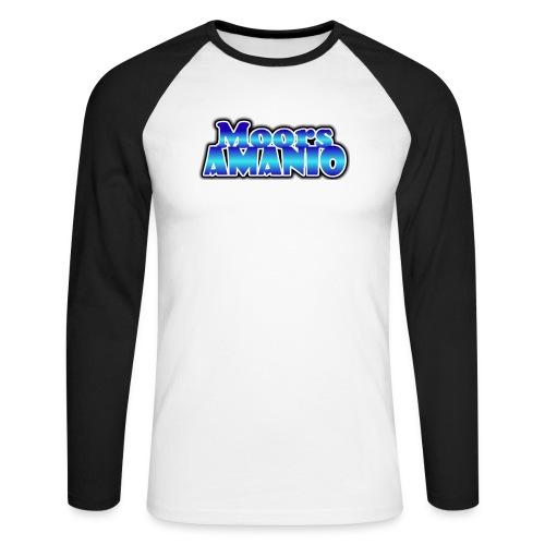 MoorsAmanioLogo - Mannen baseballshirt lange mouw