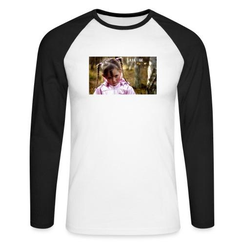 Lille Lise Picture - Men's Long Sleeve Baseball T-Shirt