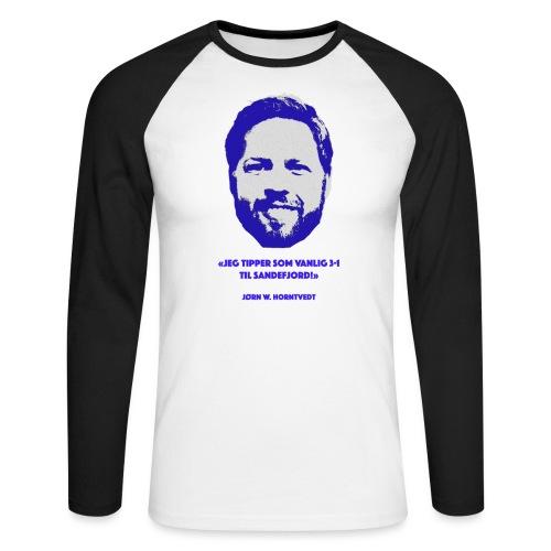 Horntvedt - Langermet baseball-skjorte for menn