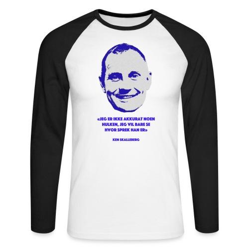 Skalleberg - Langermet baseball-skjorte for menn