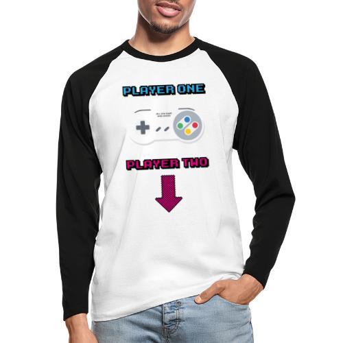 Retro Game All The Best Web Radio - Men's Long Sleeve Baseball T-Shirt
