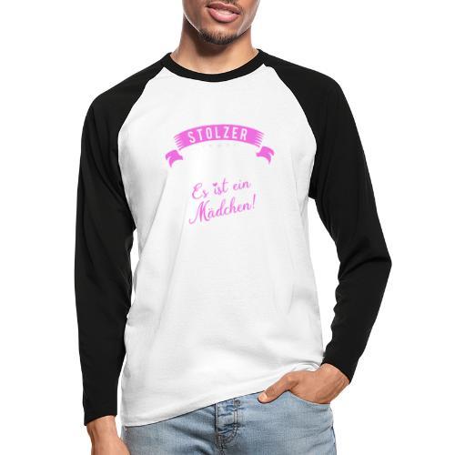 Stolzer Vater es ist ein Mädchen - Baby - Männer Baseballshirt langarm
