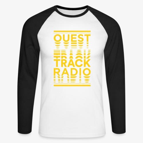 Logo Vertical Grand Jaune - T-shirt baseball manches longues Homme