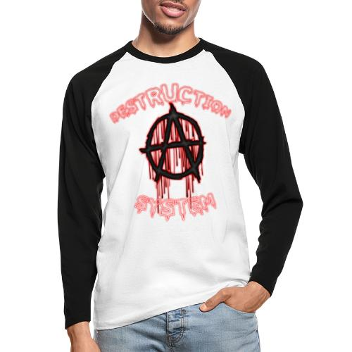 anarchy - T-shirt baseball manches longues Homme