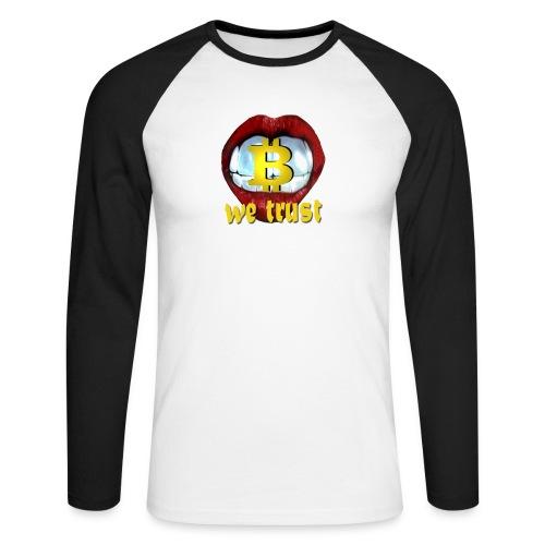 bitcoin t shirt design 9 png - Männer Baseballshirt langarm