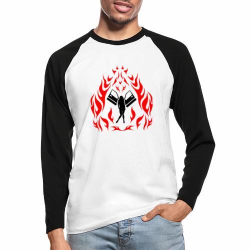 Engel / Flammen - Männer Baseballshirt langarm