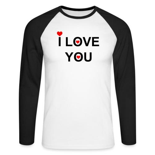 iloveyou - Mannen baseballshirt lange mouw