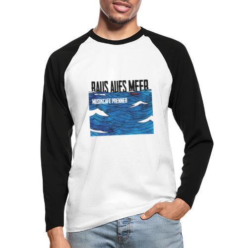 Raus aufs Meer quadratisch - Männer Baseballshirt langarm