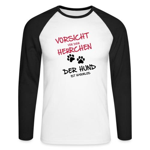 Vorschau: Vorsicht Herrchen - Männer Baseballshirt langarm