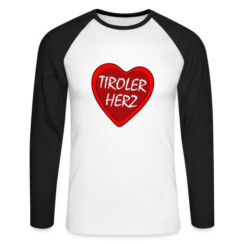 tirolerherz1 kopie - Männer Baseballshirt langarm
