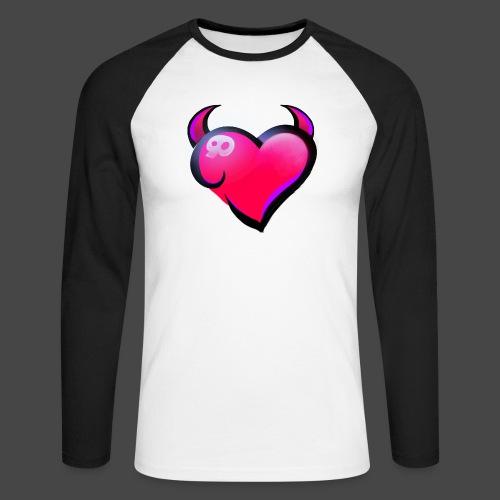 Icon only - Men's Long Sleeve Baseball T-Shirt