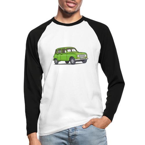 Grüner R4 (Auto) - Männer Baseballshirt langarm