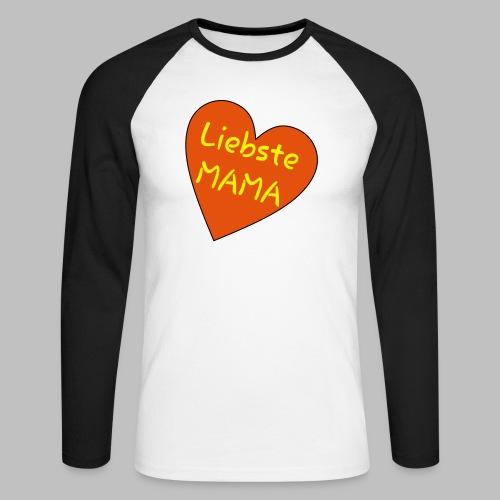 Liebste Mama - Auf Herz ♥ - Männer Baseballshirt langarm