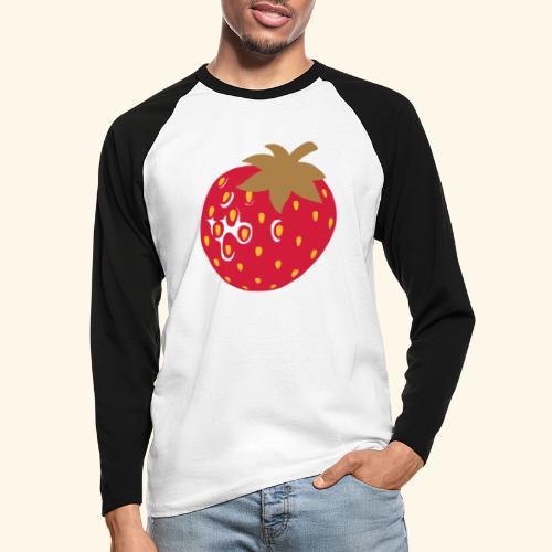 Erdbeere - Männer Baseballshirt langarm