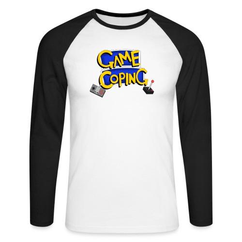 Game Coping Logo - Men's Long Sleeve Baseball T-Shirt