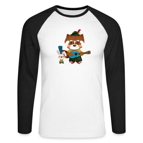 1 - T-shirt baseball manches longues Homme