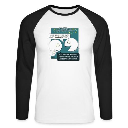 Conseils & homéopathie - T-shirt baseball manches longues Homme