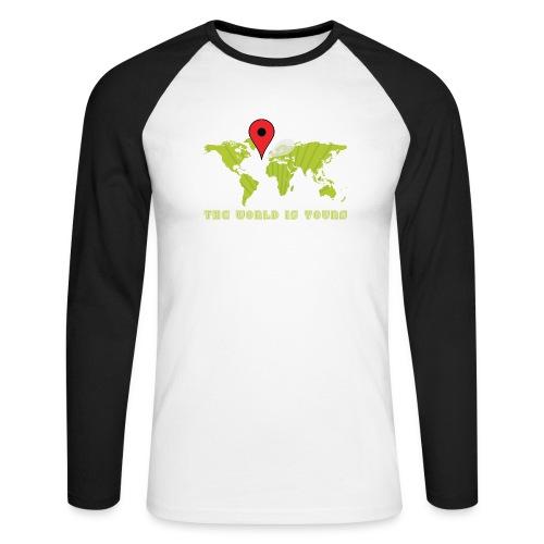 world is yourmet pin - Mannen baseballshirt lange mouw