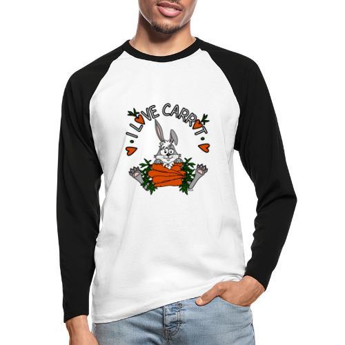 Lapin, Kaninchen, Coniglio, Humour, Legumes, Vegan - T-shirt baseball manches longues Homme