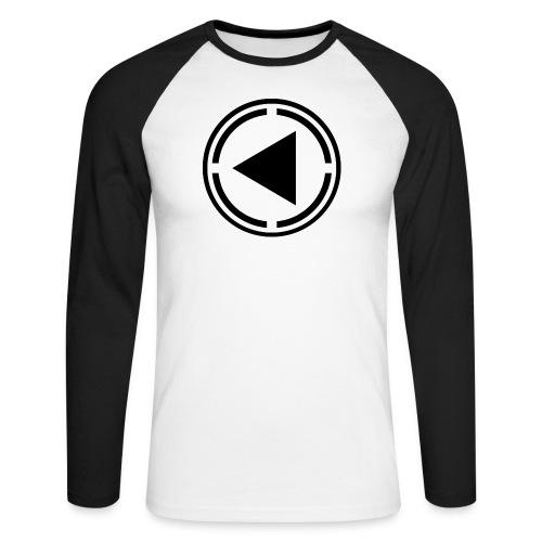 black logo last time - Men's Long Sleeve Baseball T-Shirt