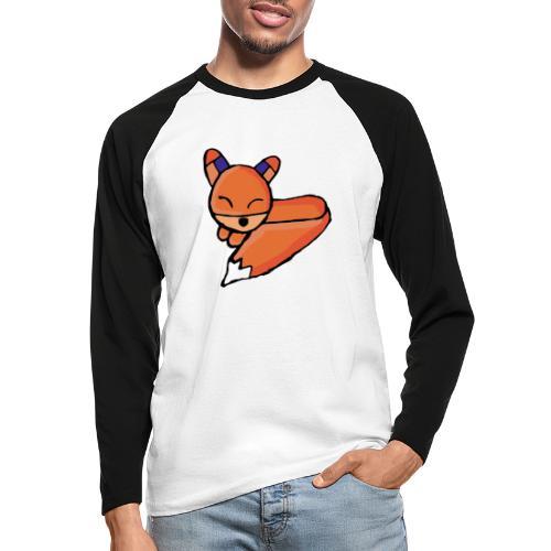 Edo le renard - T-shirt baseball manches longues Homme
