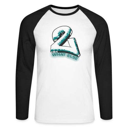 77 what else - Männer Baseballshirt langarm