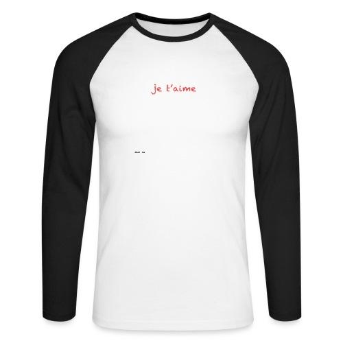 je suis trop con je t'aime - megaphone - T-shirt baseball manches longues Homme