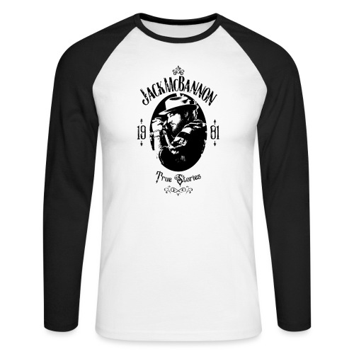 Jack McBannon - True Stories Portrait - Männer Baseballshirt langarm