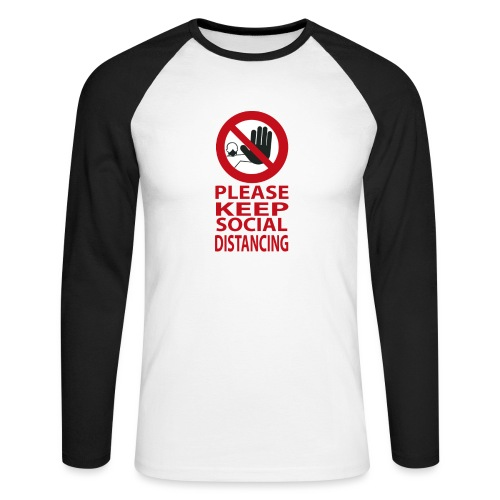 PLEASE KEEP SOCIAL DISTANCING - Maglia da baseball a manica lunga da uomo