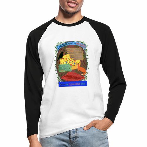 Le Corbeau et le Renard (Jean de la Fontaine) - Men's Long Sleeve Baseball T-Shirt