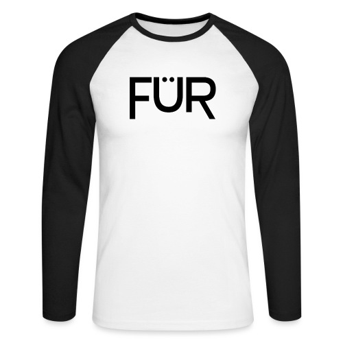 fuer shirt black 01 - Men's Long Sleeve Baseball T-Shirt