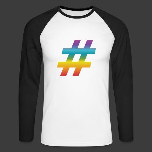 rainbow hash include - Men's Long Sleeve Baseball T-Shirt