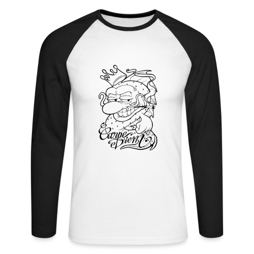 Carpe Diem - Comics Design - T-shirt baseball manches longues Homme