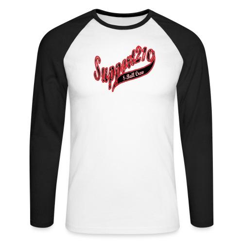 support218 8 ball crew baseball bwr png - Men's Long Sleeve Baseball T-Shirt