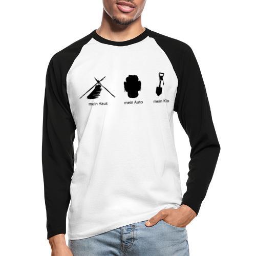 Haus Auto Klo - Männer Baseballshirt langarm